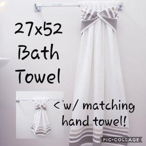 1 BATH+1 HAND HANGING SNAP Towel *JEWEL snaps